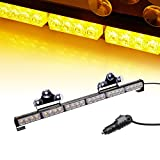 V-SEK LED Hazard Emergency Warning Tow Traffic Advisor Flash Strobe Light Bar with Cigar Lighter and Suction Cups (27