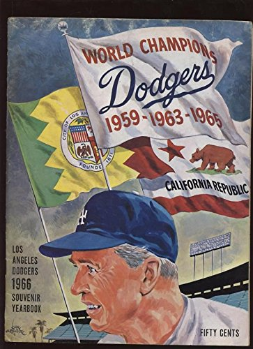 1966 Los Angeles Dodgers Yearbook Ex
