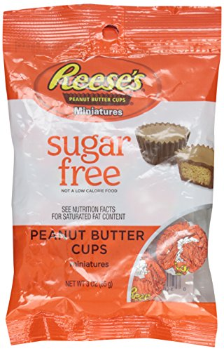 Reese's Sugar Free Peanut Butter Cup Miniatures, 3-Ounces