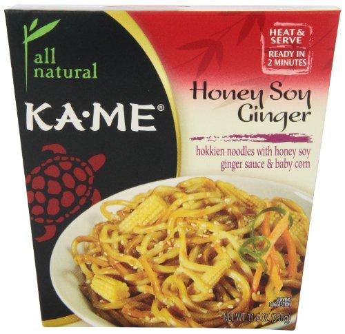 Kame Noodles Box Honey Soy Ginger, 11.6000-Ounces (Pack Of6)