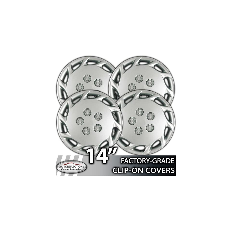1999 2003 Toyota Camry 14 Silver Clip On Hubcaps