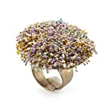 Beaded Plate Ring by Milena Zu