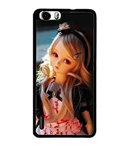 PrintDhaba Cute Doll D-1111 Back Case Cover for HUAWEI HONOR 6 PLUS (Multi-Coloured)