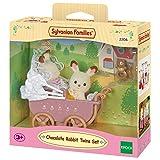 Sylvanian Families - Set gemelos conejos de color chocolate y cochecito (2206)