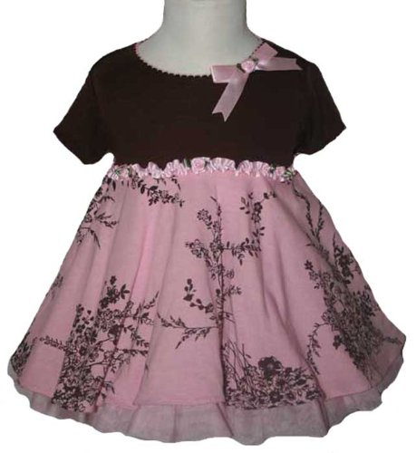 New Pink Brown French Toile Dress ~ 3M to 9M ~ Holiday Christmas