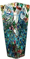 Amia 10-Inch Tall Hand-Painted Glass…