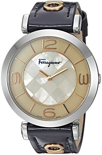 Salvatore-Ferragamo-Womens-GANCINO-DECO-Quartz-Stainless-Steel-Casual-Watch-ColorBlue-Model-FG3070014
