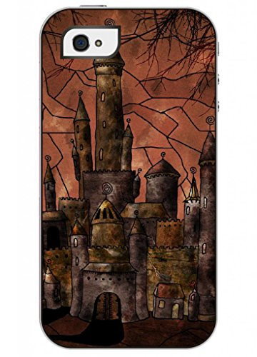 Ouo Fashion Design Iphone 4 4S 4G Case For Teen Girls With Clear Picture Of Cartoon Castle front-48118