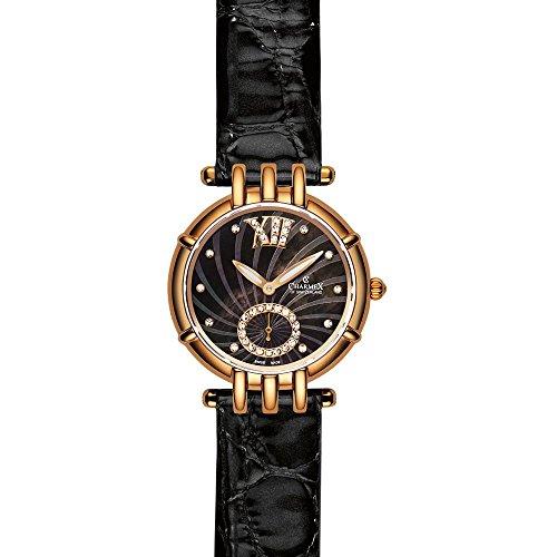 Charmex Pisa Femme 31mm Noir Cuir Bracelet Montre 6127