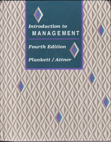 Introduction to Management (Kent series in management)