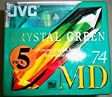 JVC MD-74DGR5P Minidisc 74min Crystal Green 5 pack