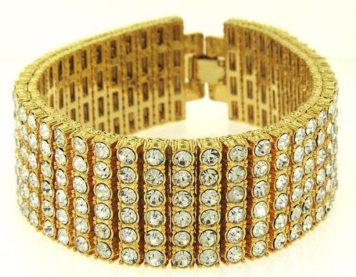 Superior 23MM 6 Row Pharaoh Bling Bracelet bling iced out