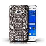 Kobalt Elefante Nero Bianco stampato Custodia Cover per Samsung Galaxy Ace NXT cellulari telefoni / Collezione...