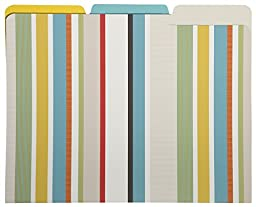 C.R. Gibson File Folders, 9-Count, Corsica Stripe (COCF-14104)