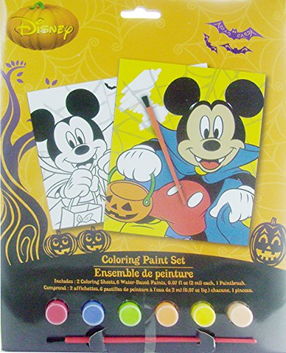 Disney Mickey Mouse Halloween Fun Coloring Paint Set - 1
