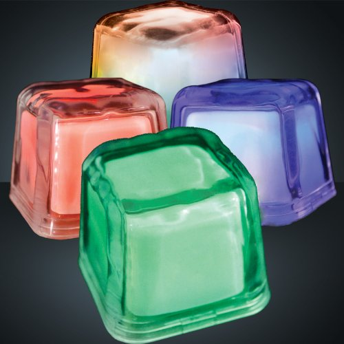 Set Of 12 Hollywood Ice Multicolor Light Up Led Ice Cubes