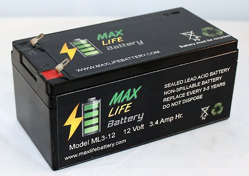 12V 3.4Ah Sla Battery Replaces Lcs2912Pl Lcs2912Pt