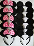 Mickey Mouse Ears Solid Black&Bow Min...