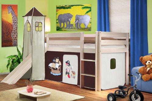 pingulina hochbett mit rutsche und turm die sch nsten. Black Bedroom Furniture Sets. Home Design Ideas