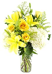 Yellow Vineyard Bouquet -With Vase