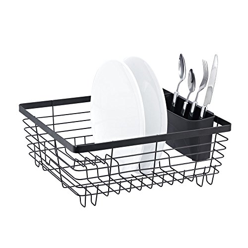 Stylish sturdy oil rubbed bronze metal wire small dish drainer drying rack 852687997827 - Dish racks for small spaces set ...