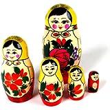 Five Nesting Russian Dolls