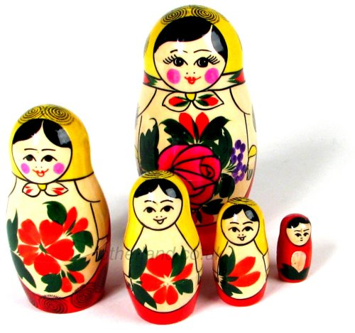 Five Nesting Russian Dolls