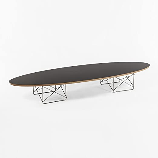 Elliptical Coffee Table - Black Top