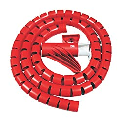 MX CABLE ORGANIZER CABLE MANAGEMENT WIREMESH EASY CABLE COVER 10MM - 1.5 METERS - MX 2696D - RED