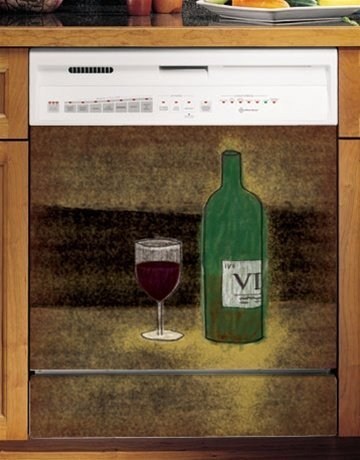 Grip Promotions 10611 Vino Wine Appliance Art- Small