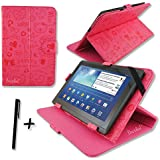 "Cute Pink PU Leather Case Cover Stand for Tonbux 10.1"" inch Tablet PC + Stylus Pen"