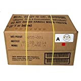 MRE 2020 Inspection Date Case, 12 Meals with 2020 Inspection Date, 2017 Pack Date. Military Surplus Meal Ready to Eat. (A-Case) (Color: A-Case)
