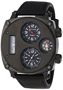 Sector Men's Quartz Watch with Black Dial Analogue - Digital Display and Black Leather Strap R3251207007