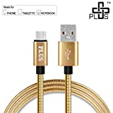 #10: Plus Metal Zinc Alloy USB Cable,Usb Type C To Usb A ,Ultra-Fast 3A Rapid Charge, 5Gbps data transfer speed, all Type C Supported Devices - Gold