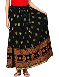 Saadgi Rajasthani Hand Block Printed Handcrafted Ethnic Lehnga Skirt For Women/Girls - B06XGK5R63