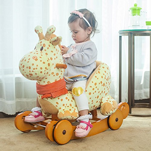 Labebe Baby Rockers with Wheels Rocking Animals Baby Toy Giraffe