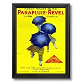 Vintage French Revel Poster Ad Home Decor Wall Picture Black Framed Art Print
