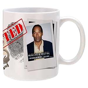 OJ Simpson commemorative coffee mug