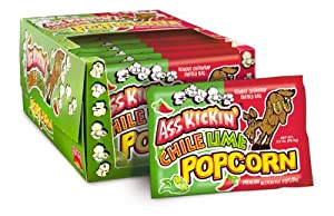Ass Kickin Chili Lime Popcorn - This Sweet And Tangy Popcorn Is Slightly Spicy Just Enough For Its Signature Kick Great For At The Movies Or On The Go by Southwest Specialty Food, Inc.