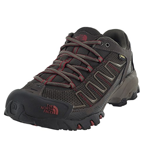 Men's The North Face Ultra 109 GTX Trail Running Shoe Coffee Brown/Rosewood Red Size 10.5 M US