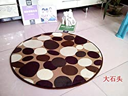 New New 2016 Round Mats Soft Cozy Coral carpet Computer chair Cushion Child Rug Doormat pet rug Yoga Mat 16 styles 3 45x45cm