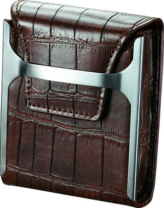 Worthington Brown Leather Cigarette Case