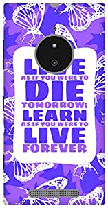 The Racoon Grip Gandhi hard plastic printed back case/cover for Nokia Lumia 830