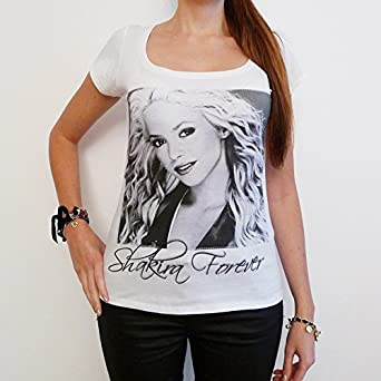 Shakira : T-shirt Femme photo de star ONE IN THE CITY - Blanc, S