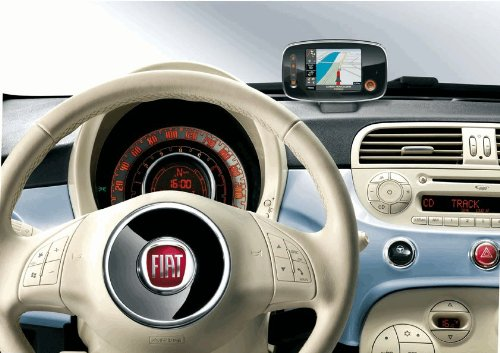 Original-Fiat-500-Mobiles-Navigationsgert-BlueMe-MAP-PND-nur-fr-Option-54K-Navi-mit-Karte-fr-Zentraleuropa
