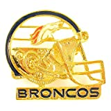 NFL Football Denver Broncos Gold Helmet Pin (L) at Amazon.com