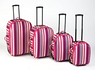Constellation 4pc Pink Stripe Luggage Set - 215917 from Constellation
