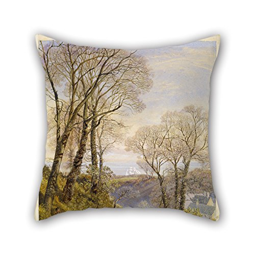 Artistdecor Pillow case/Copricuscini e federe 16 X 16 Inches / 40 By 40 Cm(twice Sides) Nice Choice For Chair,son,couch,sofa,home Theater,gril Friend Oil Painting John Brett - February In The Isle Of Wight