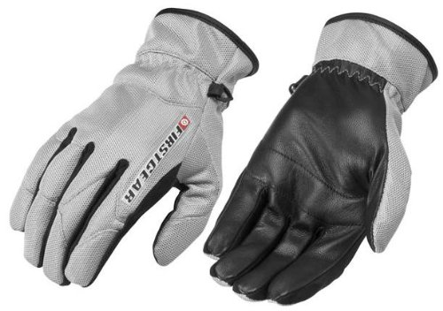 FirstGear Ultra Mesh Women's Vented Textile/Leather Street Bike Motorcycle Gloves - Silver / Large