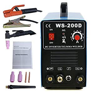 Super Deal TIG DC Inverter ARC MMA Welder Welding Machine 110V&220V 200 Amp Single Phase, Blue (400w) PatternName: 400w, Model: , Outdoor & Hardware Store by Super Deal
